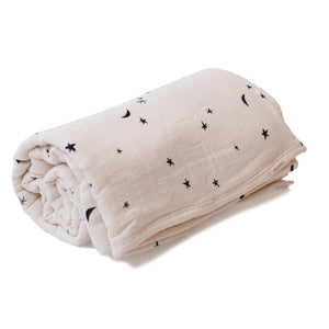 Mille Feuille Throw Blanket - Moonlight