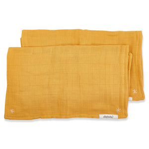 Pigment Lovie Burp Cloth Golden Mustard