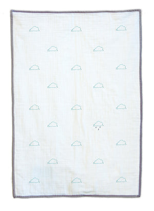 Rain Clouds Organic Baby Quilt Blanket
