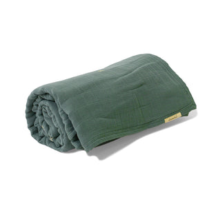 Mille Feuille Throw Blanket - Silver Sage