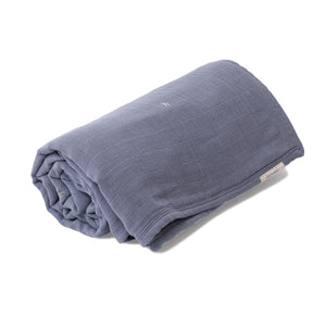 Mille Feuille Throw Blanket - Stonewash Blue