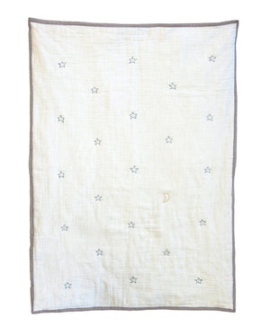 Starry Skies Organic Baby Quilt Blanket