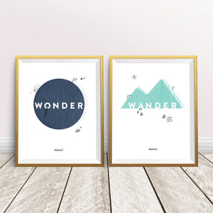 Wonder + Wander Poster Set