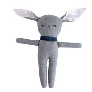 Monsieur Lapin Gray - Handmade Stuffed Bunny