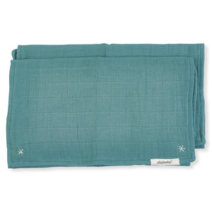 Pigment Lovie Burp Cloth Silver Sage