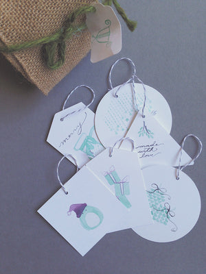 Free Downloadable Watercolor Holiday Gift Tags