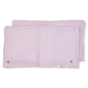 Pigment Lovie Burp Cloth Pink Lilac
