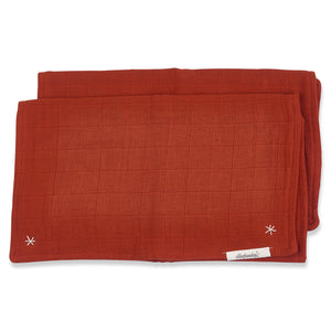 Pigment Lovie Burp Cloth Cayenne