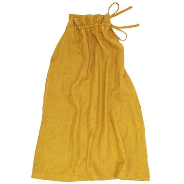 Ruffle Neck Sundress - Golden Mustard