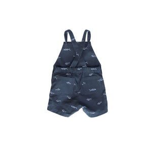 Toddler Knotted Shortalls | Baby Shark