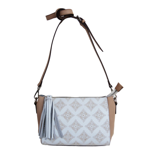 Global Diamond Embroidered Crossbody