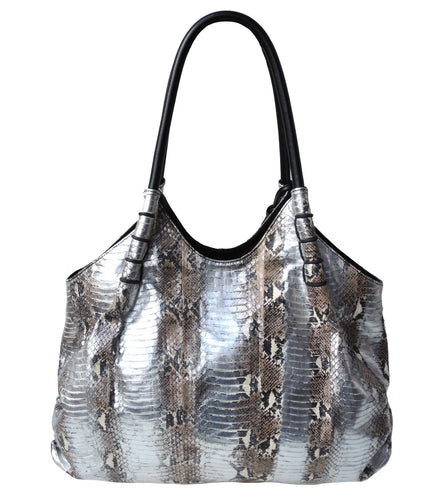 Water Snake Ruched Tote