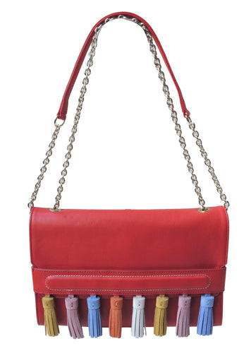 Colorful Tassel Shoulder Bag / Crossbody