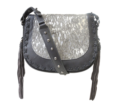 Baroque Haircalf Lasercut Crossbody