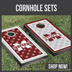 Mississippi State Bulldogs cornhole boards