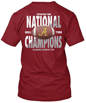 Alabama Crimson Tide National Champs 2017 - 17 Time National Champions T-shirt - Ball