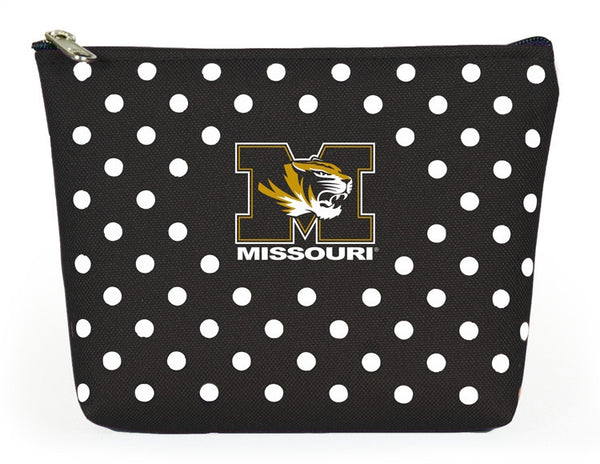 Missouri Tigers Polka Dot Pouch