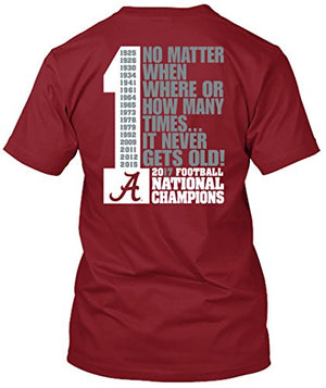 Alabama Crimson Tide National Champs 2017 - Never Gets Old T Shirt