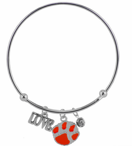 Picture of Clemson Tigers Love Charm Bracelet