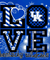 Kentucky Wildcats Love T-shirt