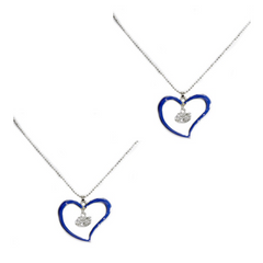 Florida Gators Heart Necklace - 2 Pack