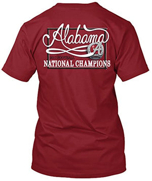 Alabama Crimson Tide National Champs 2017 - Script T-shirt