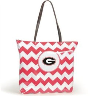 Georgia Bulldogs Chevron Tote Bag