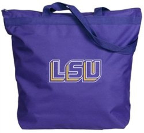 LSU Tigers Zipper Gusset Tote Bag