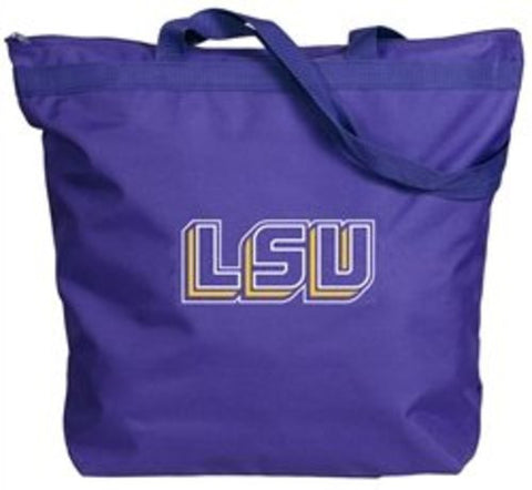 Picture of LSU Tigers Zipper Gusset Tote Bag
