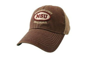 Mississippi State Bulldogs Hat Adjustable Trucker Style