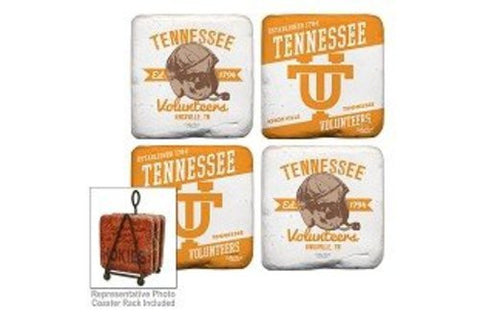 Picture of Tennessee Volunteers Coaster Set of 4 with Helmet design