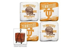 Tennessee Volunteers Coaster Set of 4 with Helmet design
