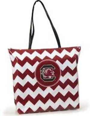 South Carolina Gamecocks Chevron Tote Bag