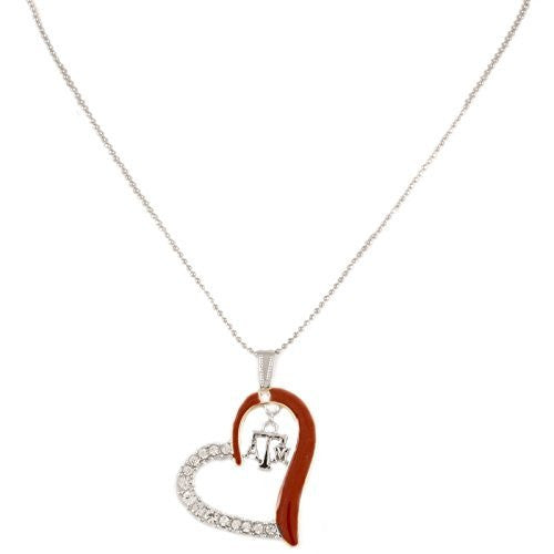 Texas A&M Aggies Heart Necklace