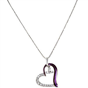 LSU Tigers Heart Necklace