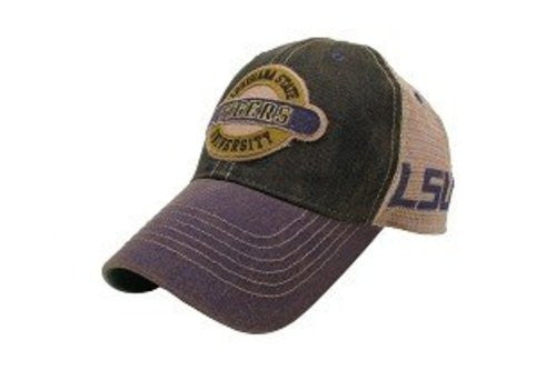 LSU Tigers Hat Adjustable Trucker Style with LSU Logo on Side