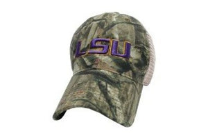 LSU Tigers Hat Adjustable Trucker Style Camo design