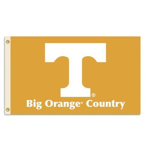 "Tennessee Volunteers 3-by-5 Foot ""Big Orange Country"" Flag With Grommets"