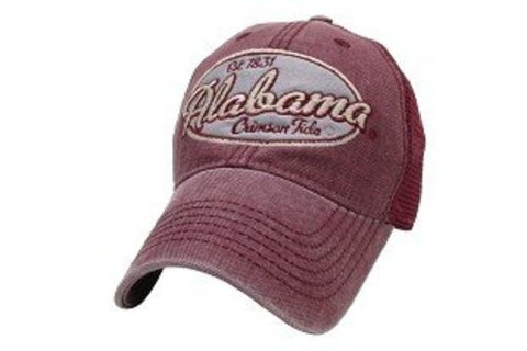 Picture of Alabama Crimson Tide Hat Adjustable Trucker Style with Crimson Full Color