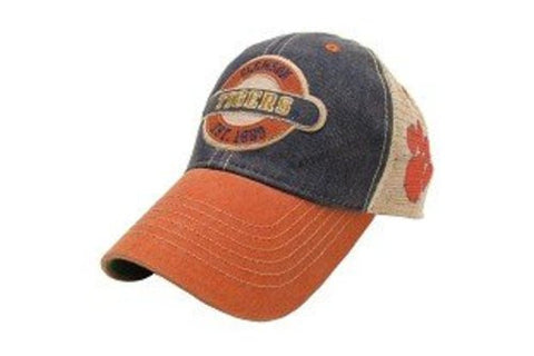 Picture of Clemson Tigers Hat Adjustable Trucker Style with A Logo on Side