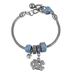North Carolina Tar Heels Charm Bracelet