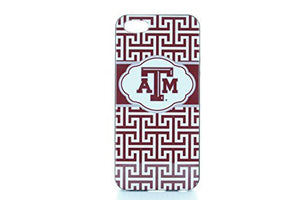 Texas A&M Aggies Iphone 5 Case - Greek Key Design