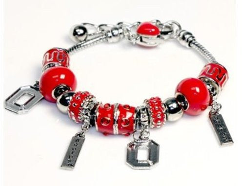 Ohio State Buckeyes Charm Bracelet with 4 Charms