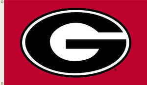 Georgia Bulldogs 3-by-5 Foot Flag G Logo with Red Background with Grommets