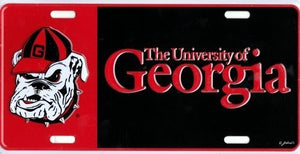 Georgia Bulldogs Color Block Car Tag
