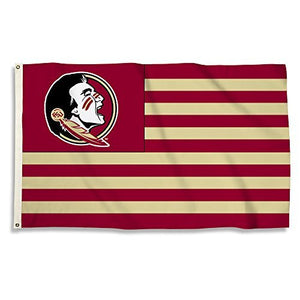 Florida State Seminoles 3 x 5-Feet Flag with Grommets, White, One Size