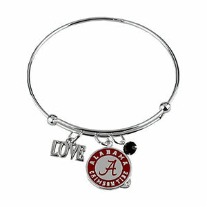 Alabama Crimson Tide Love Coil Bracelet