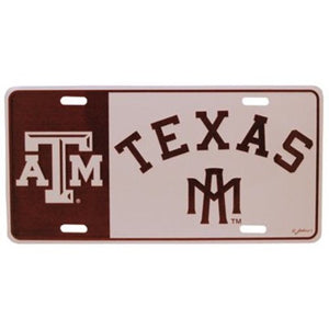 Texas A&M Aggies Logo License Plate