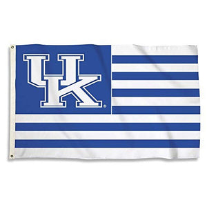 Kentucky Wildcats Stipes Flag with Grommets, 3' x 5', Royal