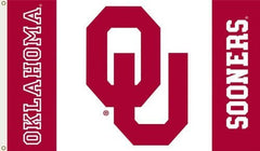 Oklahoma Sooners 3-by-5 Foot Flag Logo with White Background with Grommets